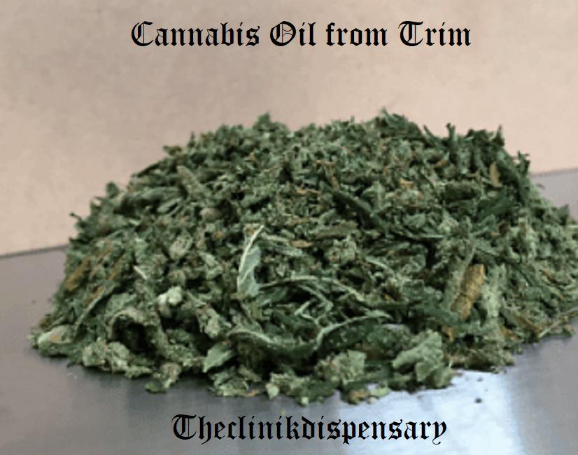 Cannabis Oil from Trim