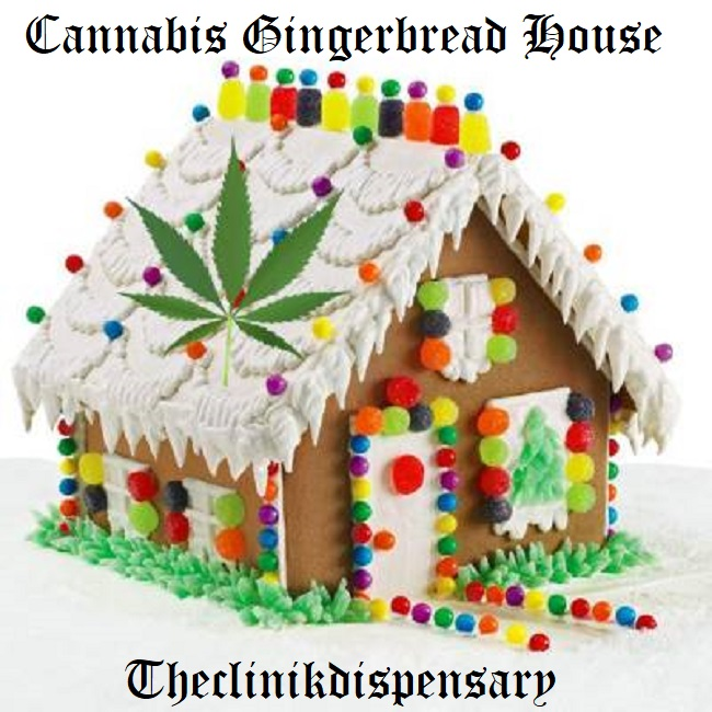 Holiday Cannabis Gingerbread House