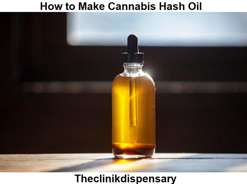 how to make cannabis hash oil