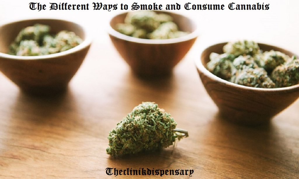 ways to consume weed